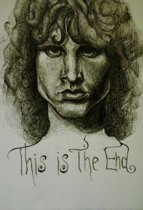 Jim Morrison by Blueberryeyed